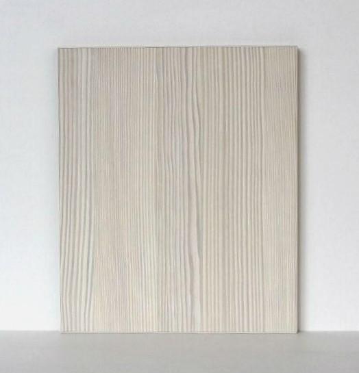 Textured Wood Kitchen Door in White Avola