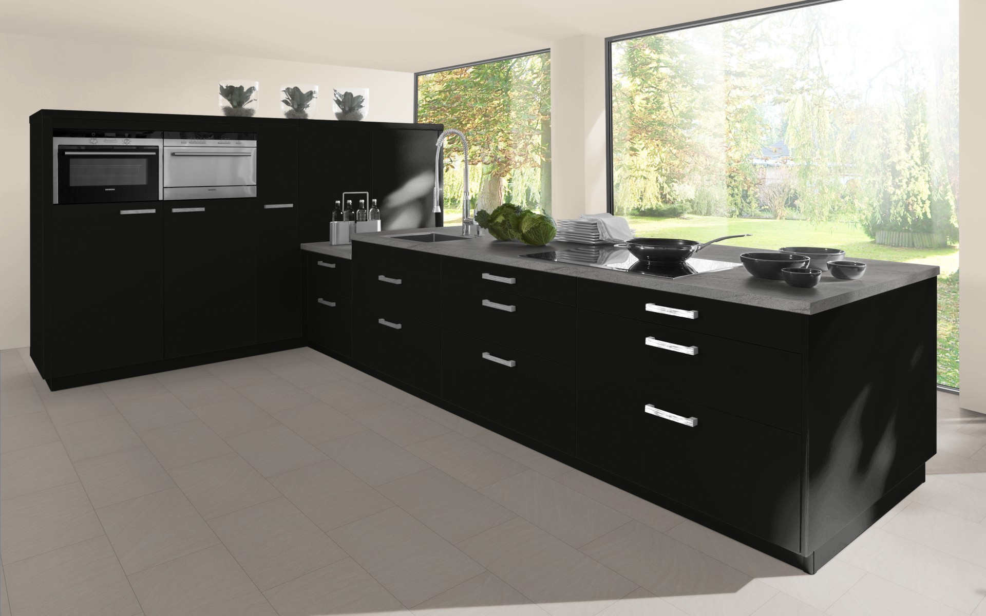 High Gloss Kitchen Door in Black