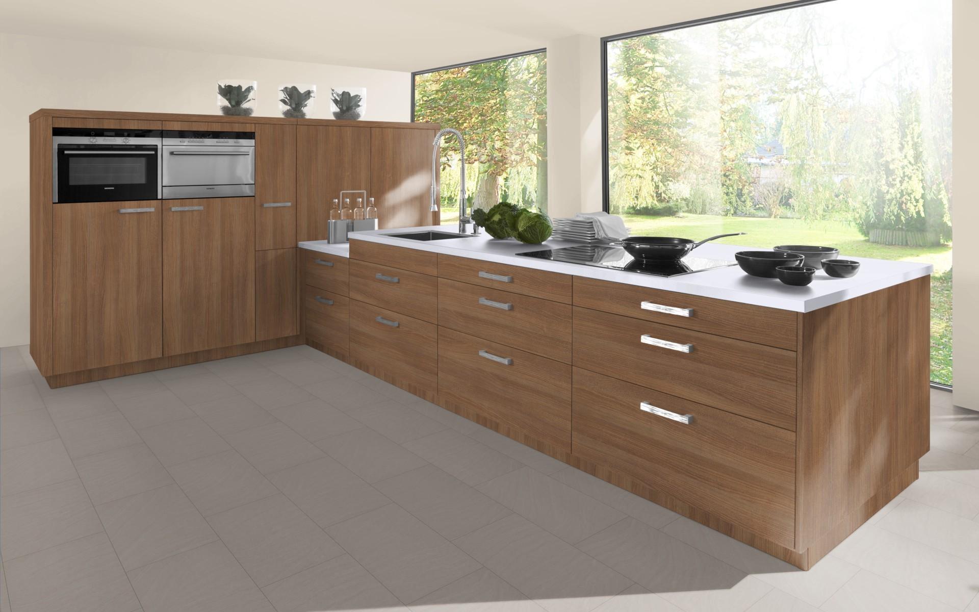 Textured Wood Kitchen Door in Brown Cassino Ash