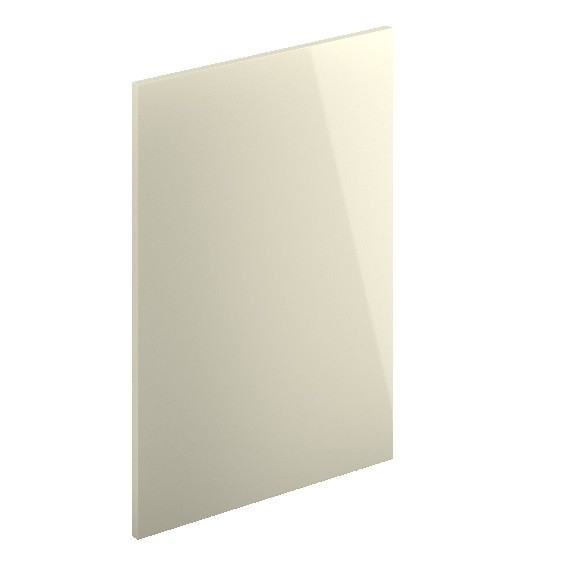 Decor End Panel - Short Wall Cabinet-Cream Hi Gloss