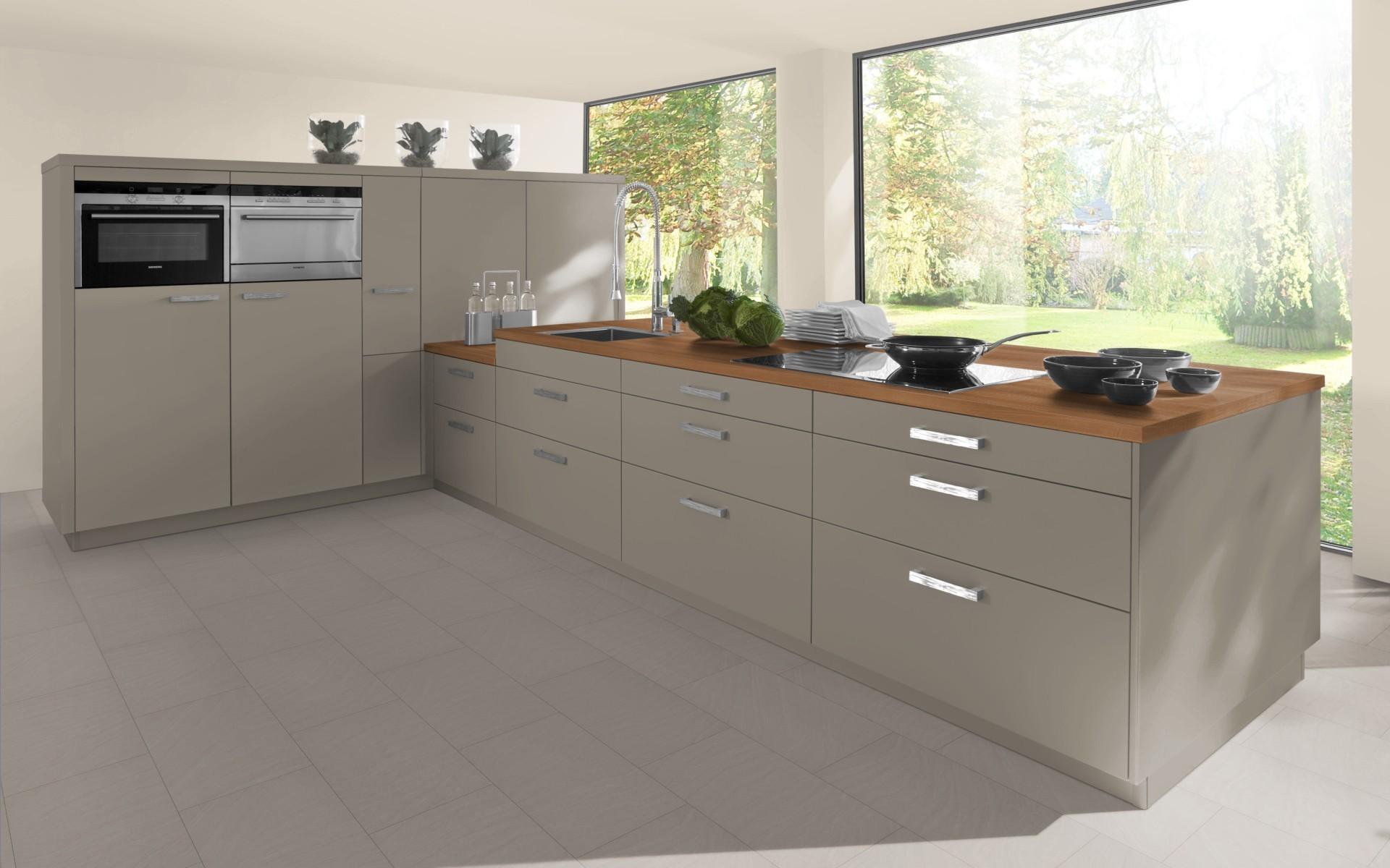 Contemporary Kitchen Door in Stone Grey
