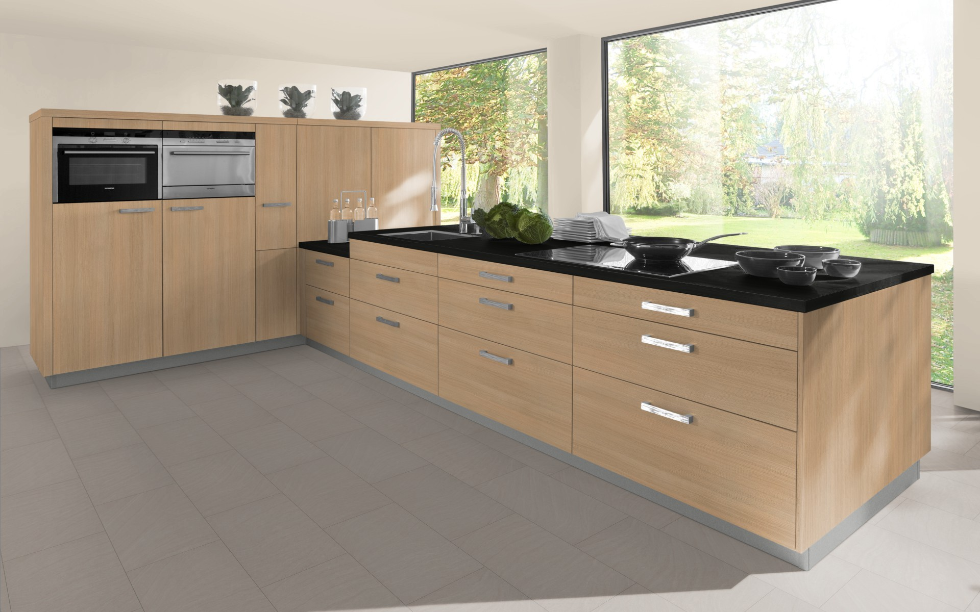 Classic Woodgrain Kitchen Door in Light Ferrara Oak